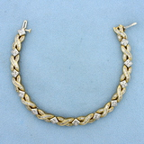 3ct Tw Baguette And Round Diamond Bracelet In 14k Yellow And White Gold