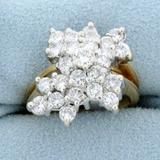 2ct Tw Diamond Statement Ring In 14k Yellow Gold