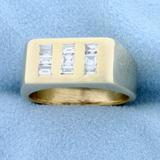 Designer 1/2ct Tw Baguette Diamond Ring In 14k Yellow Gold