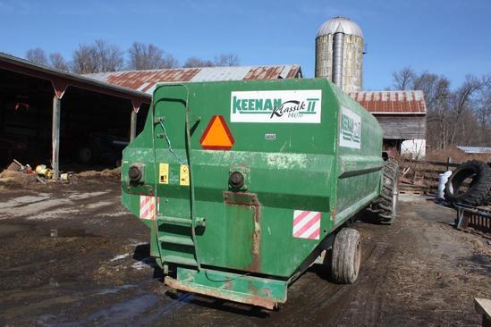 Keenan, Klassic II FP140 (TMR) feed mixer wagon