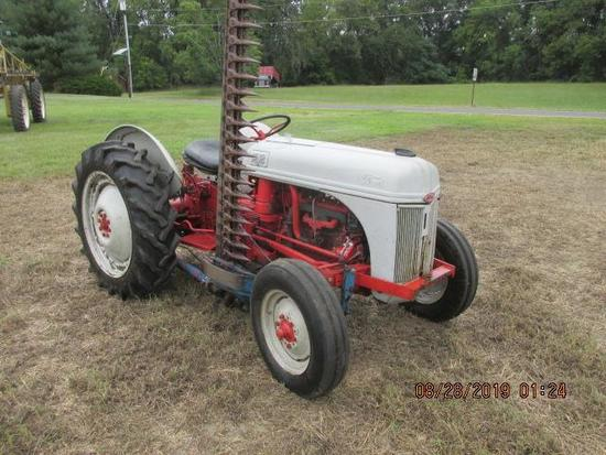 1952 Ford 8N w/ side distributor and tach, Sherman 2 speed aux and side mounted 6' sycle bar mower,