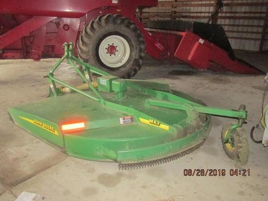 JD MX7 3pt rotary mower w/ 7' cut,