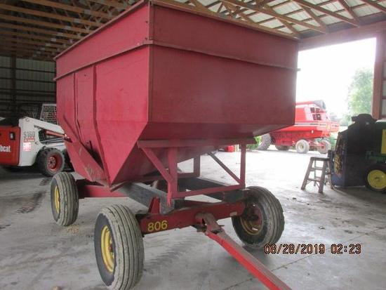 "200 Bu Gravity bin (est) w 10"" side kit on 806 Pequea running gears;"