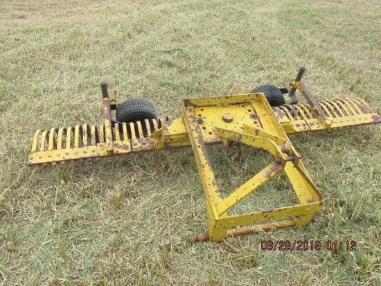 3 Pt.York rake 8' w tail wheels;