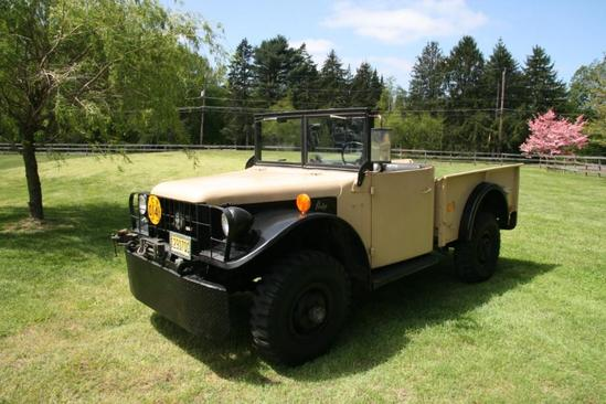 1952 Dodge M37 with a retrofitted GM 350 and converted to 12 volts;