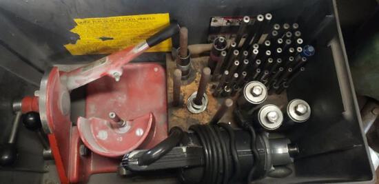 Kwik-Way valve grinding box with stones pilots etc