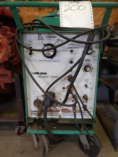 Linde 200 amp TIG welder