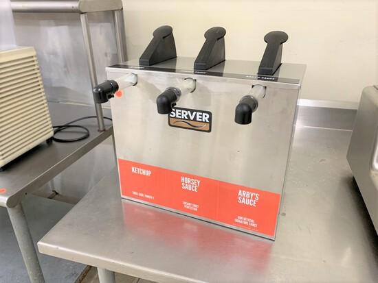 Server 3 station counter top  condiment disenser, model - SE-T  07124