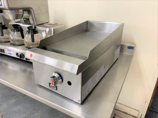 ACS flat top gas griddle / skillet, natural gas, model - GG-122T-ACS, serial number - 20170909051