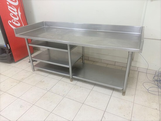 "Stainless Steel prep table, 78"" x 30"" x 30.5"""