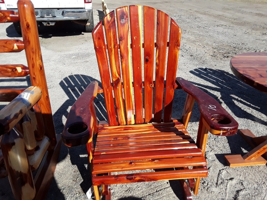 WOOD ROCKING CHAIR  , AS-IS,  #109506