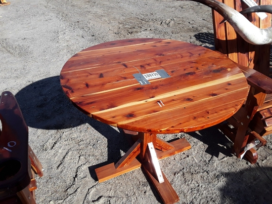 WOOD TABLE  , AS-IS,  #109739