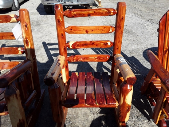 WOOD ROCKING CHAIR  , AS-IS,  #109737