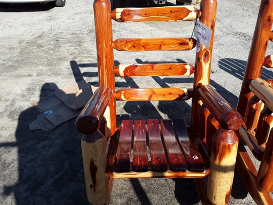 WOOD ROCKING CHAIR  , AS-IS,  #109724