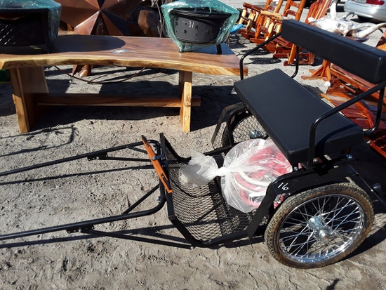 HORSE DRAGGING BUGGY  , AS-IS,  #109507