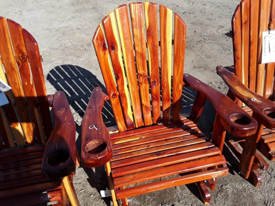 WOOD ROCKING CHAIR  , AS-IS,  #109730