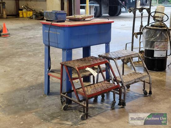 PARTS WASHER AND (2) STEP STOOLS