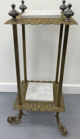 Two Tier Marble Stand