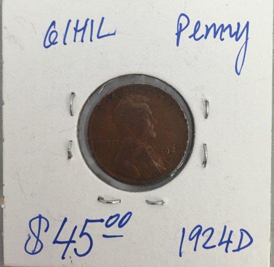 Us Penny 1924-D