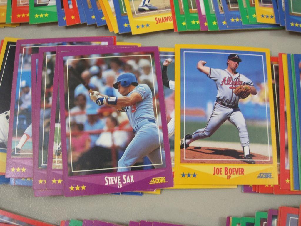 Lot Lot Of 1988 Score Baseball Cards 1 Lb 3 Oz Proxibid Auctions