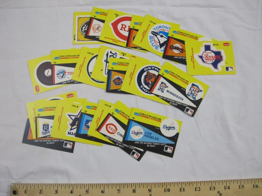 Lot 22 Fleer Famous Feats Baseball Stickers 22 Cards Not