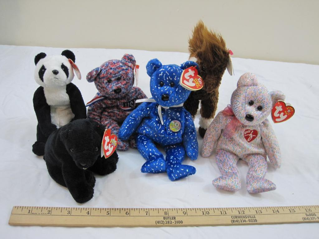 Lot  Lot of 6 TY Beanie Babies including Cinders 85a44400659c