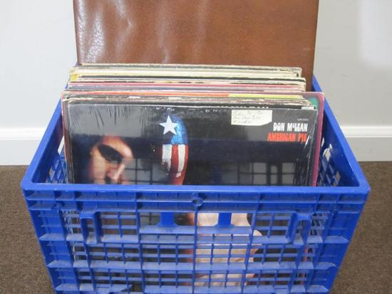 Lot of 25+ vinyl records including Don Mclean, Tom Jones, Gordon Lightfoot and others - does not