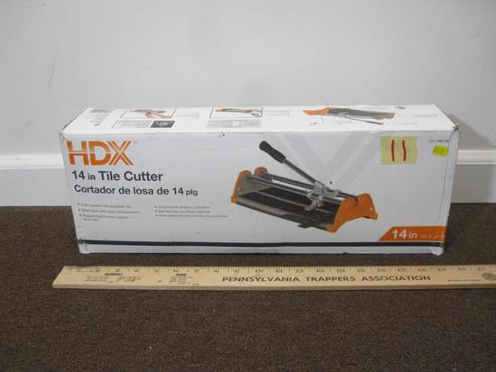 "HDX 14"" Tile Cutter new in the box"