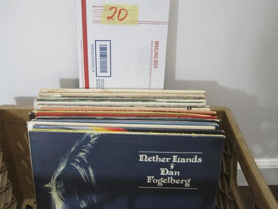 Lot of 25+ vinyl records including Robert Palmer, Mellencamp, Captain and Tennille, Meatloaf, ELO