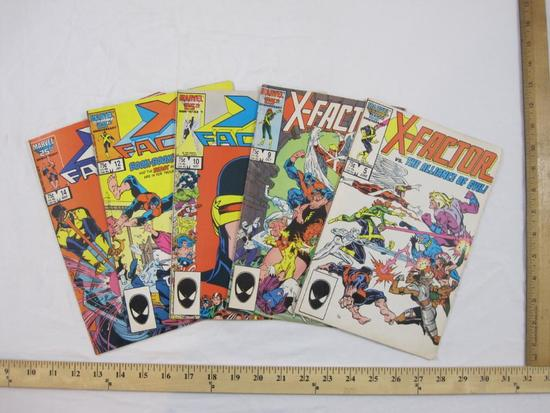 Five Copper Age Comic Books Issues of X-Factor Nos. 5, 9, 10, 12 & 14 (June 1986-March 1987), Marvel