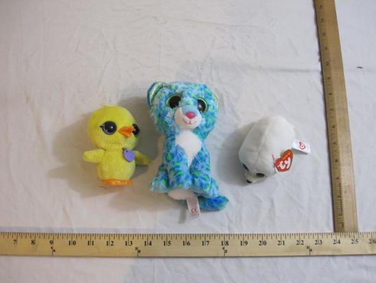 Lot of Assorted Plush Toys including TY Teeny Toy Slippery and TY Leona, 6 oz