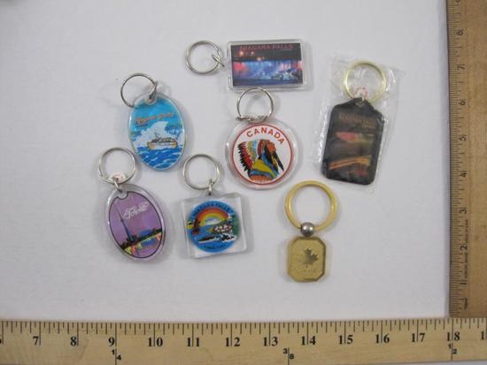 7 Niagara Falls and Canadian Keychains, 5 oz