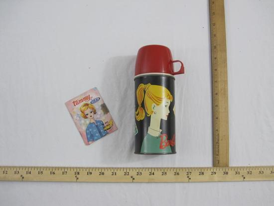 Vintage Barbie Holtemp 10 oz Thermos (1962) and Tammy by Ideal Catalog/Advertising Booklet, 13 oz