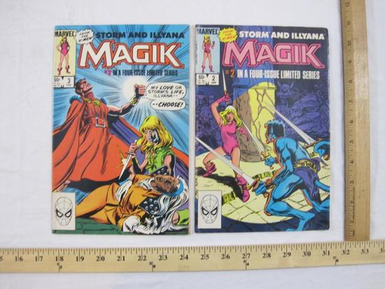 Two Magik (Storm and Illyana Limited Series) Comic Books Nos. 2 & 3 (January & February 1984),