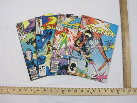 Four X-Factor Comic Books Nos. 17, 18, 28 & 29 (June 1987-June 1988), Marvel Comics, comics have