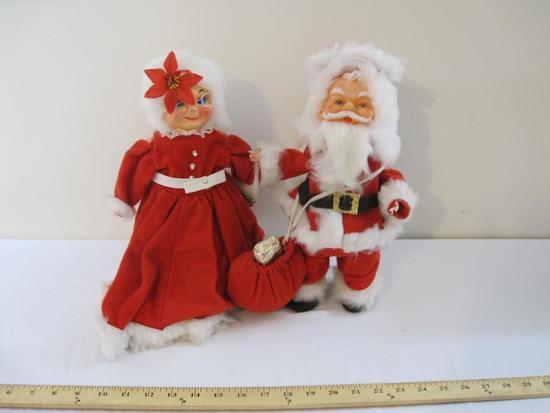 Santa and Mrs. Claus Christmas Decorations, Handmade, 2 lbs