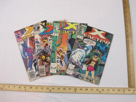 Four X-Factor Comic Books Nos. 31, 35, 29 & 43 (August 1988-August 1989), Marvel Comics, comics have