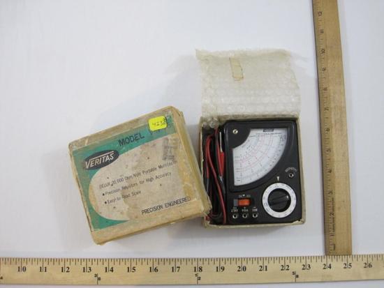 Veritas Model V-740 Portable Multitester, in original box, 14 oz