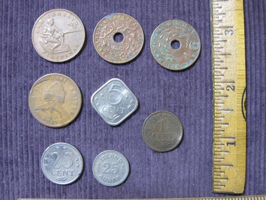 Lot of foreign coins, including Philippines, Netherlands and Netherlands Antilles