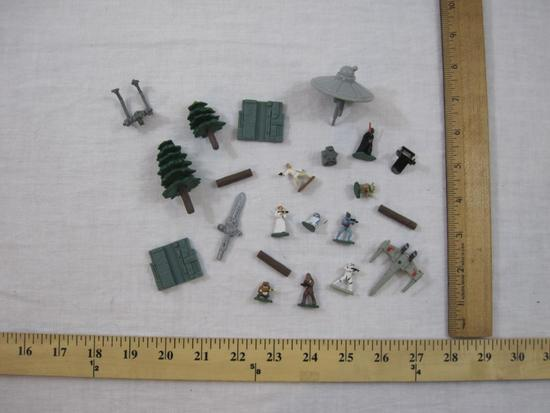 Lot of Assorted Miniature Toys including Star Wars Micro Machines Figures and more, 2 oz