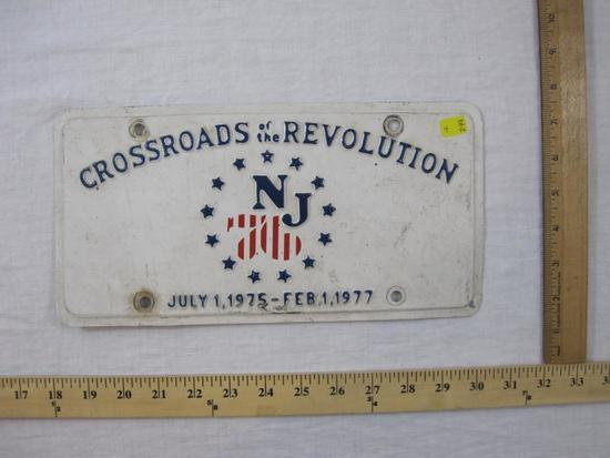NJ 76 Crossroads of the Revolution July 1, 1975-Feb 1, 1977 License Plate, 4 oz