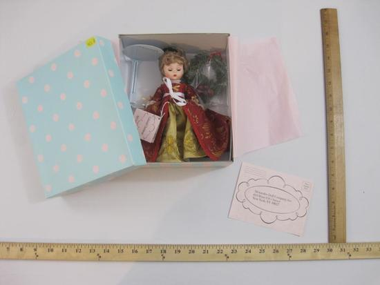New in Box Colonial Christmas Madame Alexander Doll, item 60755, 13 oz