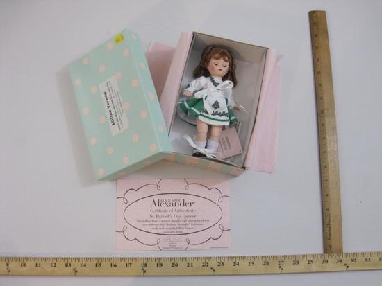 New in Box St. Patrick's Day Dancer Madame Alexander Doll, item 50780, 11 oz