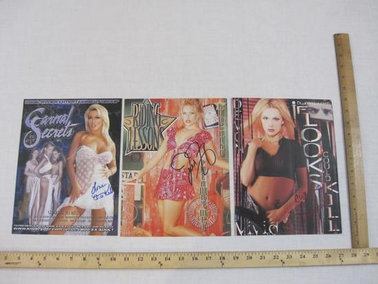 Three Signed Photos of Adult Actresses/Dancers including Dyanna Lauren, Jill Kelly and Jenteal, 2 oz