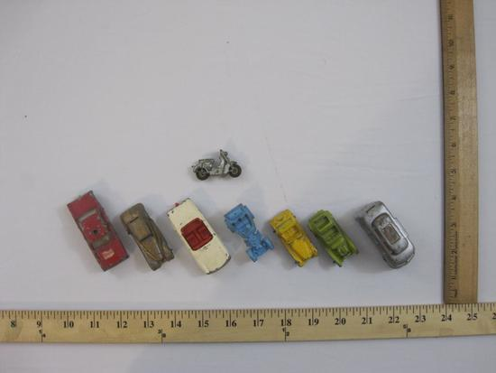 Lot of Vintage Diecast Cars from Tootsie and Lesney including Fire Chief, VW Camper and more, 7 oz