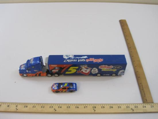 Kellogg's #5 Racing Truck and Car Trailer with Diecast Car, 14 oz