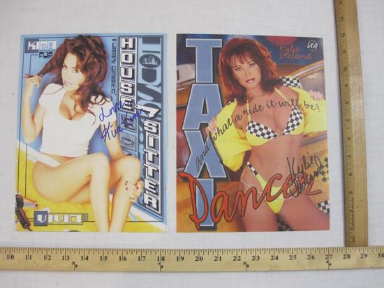 Two Signed Photos of Adult Actresses including Kira Kener and Kylie Ireland, 1 oz