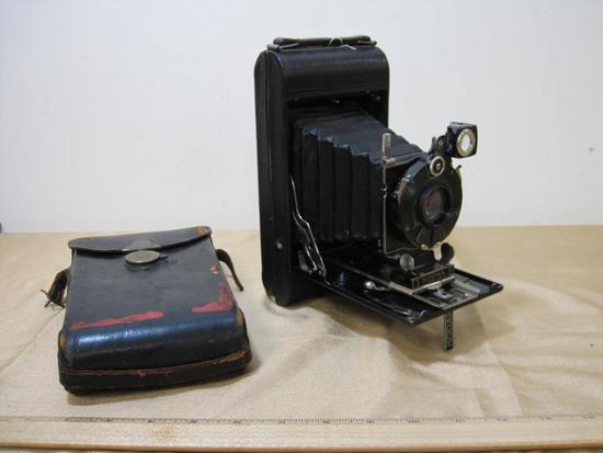 Kodak Series III Folding Camera with Leather Case, made 1926 through 1934