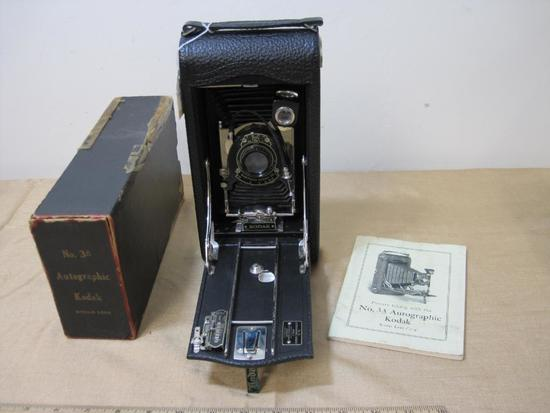 No. 3A Autographic Kodak Model C, Eastman Kodak Company Camera with Box and Manual - AS-IS - small