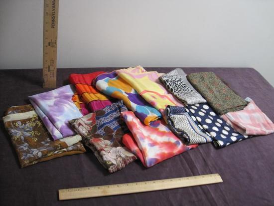 Lot of 12 Ladies Scarves, some silk